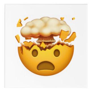 Art Mural En Acrylique Visage choqué avec la tête de explosion - Emoji