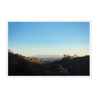 Art Mural En Acrylique Vue de ville de Los Angeles de parc de canyon de