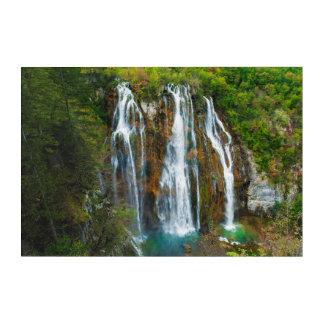 Art Mural En Acrylique Vue élevée par cascade, Croatie