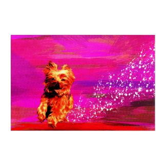 Art Mural En Acrylique Yorkshire Terrier