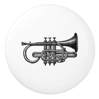 Art musical vintage d'instrument en laiton de