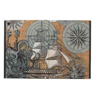 Art nautique vintage de bateau de poulpe de rose coque powis iPad air 2
