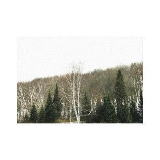 Art neutre de mur de toile - paysage d'hiver