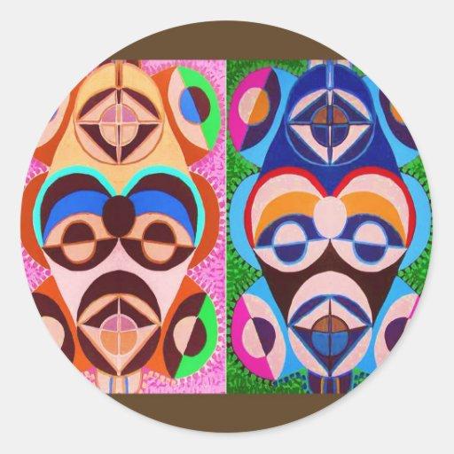 Art NOIR en couleurs. Liberté d'expression Adhésifs Ronds