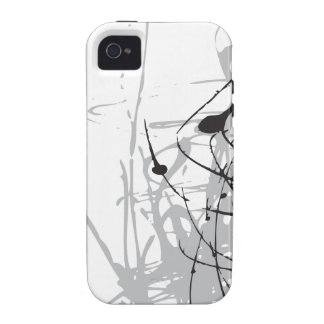 art noir et blanc abstrait vo1 coque iPhone 4 de Case-Mate