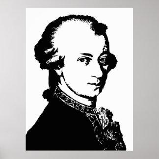 Art noir et blanc de vecteur de Mozart Affiches