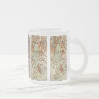 Art Nouveau - Alphonse Mucha - hiver Mug En Verre Givré