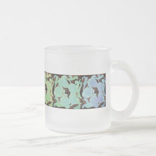 Art Nouveau, arc-en-ciel de couleurs Tasse À Café