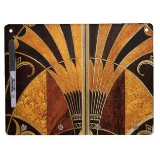 art Nouveau, art déco, cru, couleurs en bois Tableaux Blancs Effaçables À Sec
