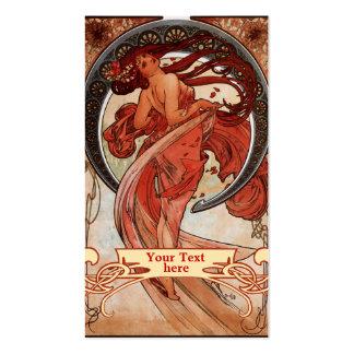 Art Nouveau - cartes de visite de Mucha d'art déco Carte De Visite Standard