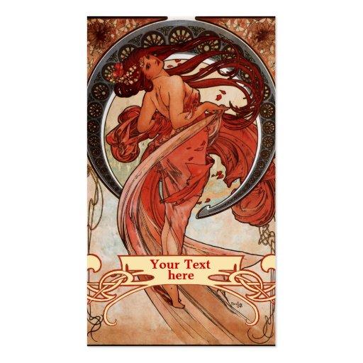 Art Nouveau - cartes de visite de Mucha d'art déco Modèles De Cartes De Visite