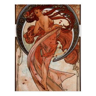Art Nouveau la carte postale de danse
