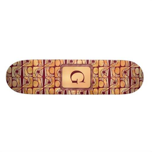 Art Nouveau Skateboard