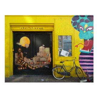 Art Nr de rue de graffiti d'Amsterdam. 4 - Serpent Cartes Postales