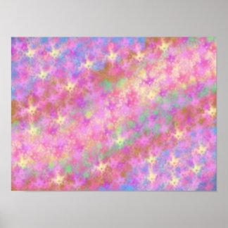 Art numérique abstrait Shimmery brillant Posters