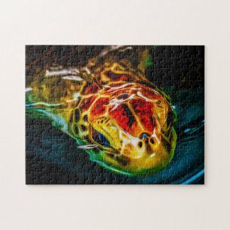 Art numérique de la tortue de mer 02 - puzzle de