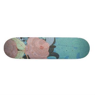 art numérique floral 2 de nouveau d art skateoard personnalisé