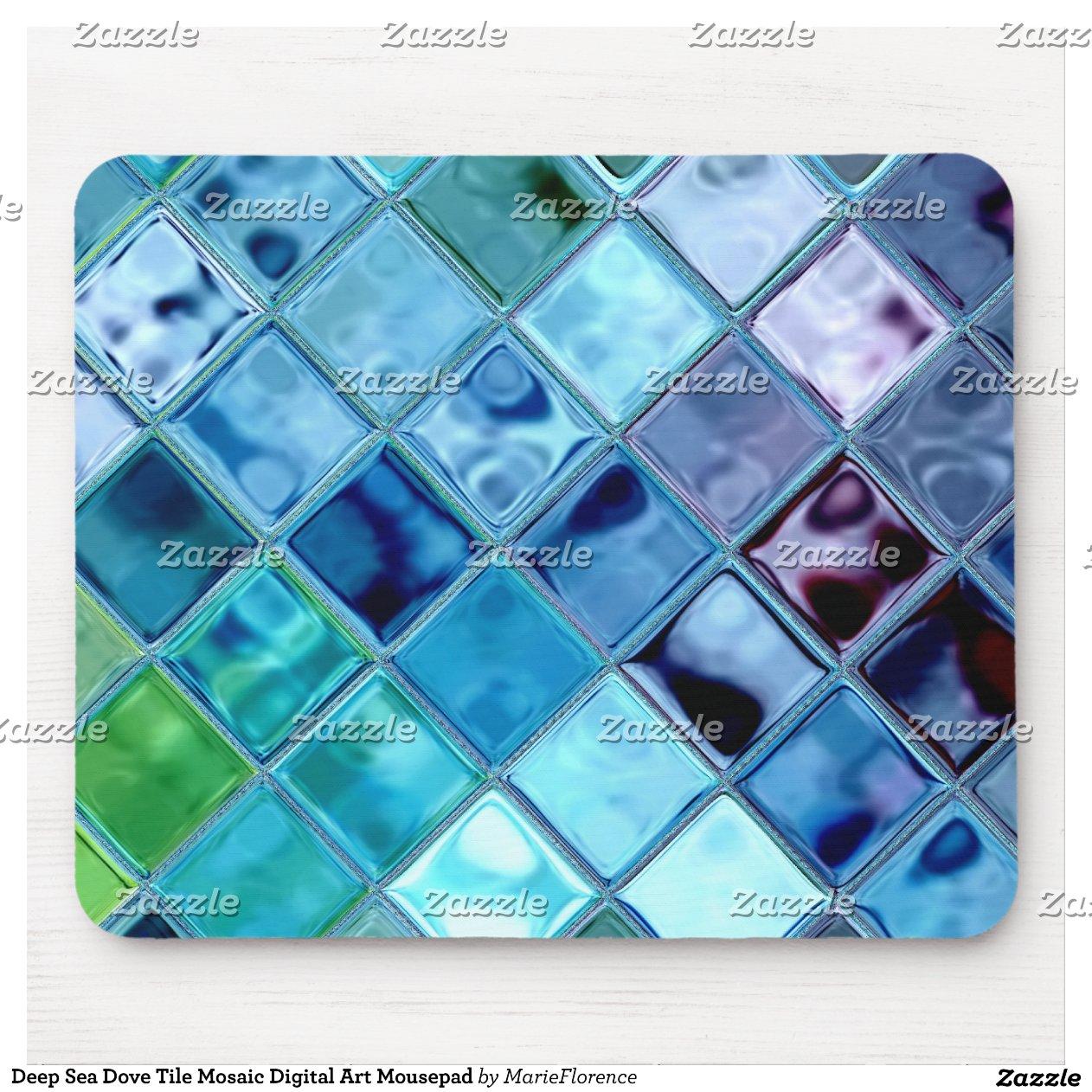 art num rique mousepad de mosa que de tuile de col tapis de souris zazzle. Black Bedroom Furniture Sets. Home Design Ideas