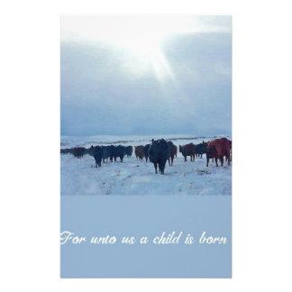Art occidental chrétien des bétail et des vaches