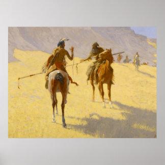 "Art occidental de Frederic Remington ""la Poster"