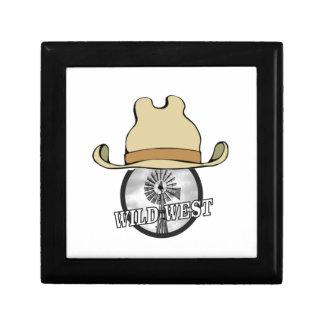 art occidental sauvage de cowboy boîte à souvenirs