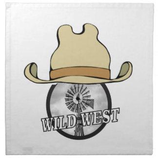 art occidental sauvage de cowboy serviettes en tissus