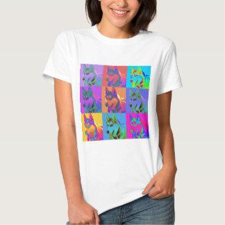 Art op - chien de traîneau sibérien t-shirt