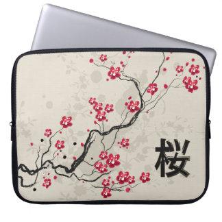 Art oriental de fleurs de cerisier de Sakura de Housse Ordinateur