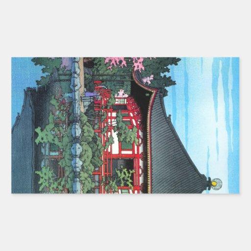Art oriental frais de temple de Daigo Denpo de Jap Autocollant En Rectangle