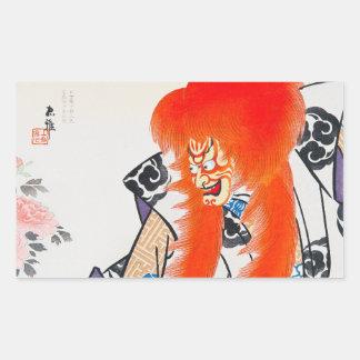 Art oriental japonais frais de guerrier de kabuki  adhésif