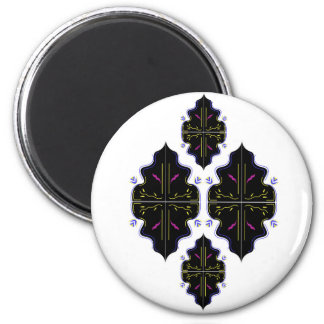 Art oriental noir et blanc de mandala aimant