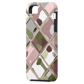 Art original rose de Camo pour le cas fait sur Étui iPhone 5