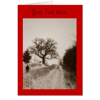 art photographique de scène de neige d'hiver cartes de vœux