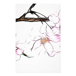 Art pleurant japonais de fractale de fleurs de cer papier à lettre