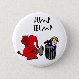 Art politique de bande dessinée d'atout drôle de pin's