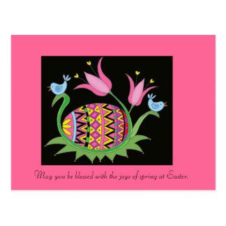 Art populaire d'Ukrainien de bénédiction de Pâques Carte Postale