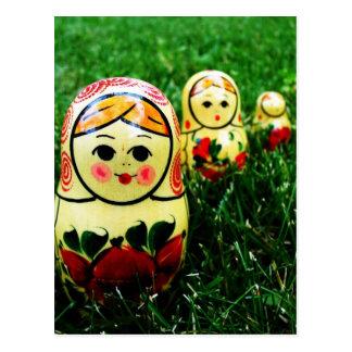 Art populaire d'Ukrainien de Matryoshka Carte Postale