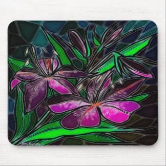 Art populaire en verre de tache de véranda tapis de souris