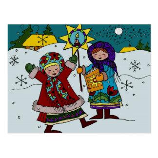 Art populaire ukrainien d'Ukrainien de Carolers de Carte Postale