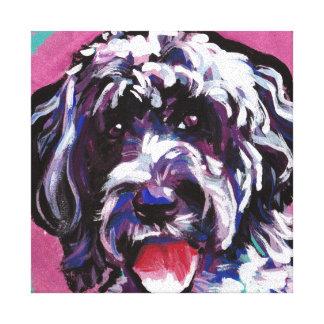 art portugais de chien de bruit de chien d'eau de toiles