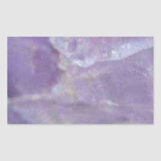 art pourpre de pierre de roche sticker rectangulaire