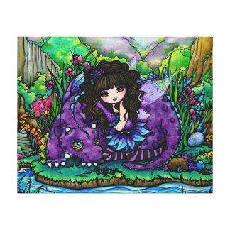 Art pourpre féerique de toile de crèche de dragon  toiles
