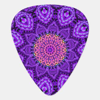 Art pourpre fleuri de kaléidoscope de vibrations onglet de guitare
