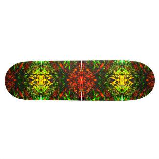Art psychédélique de plate-forme de planche à plateaux de skateboards customisés