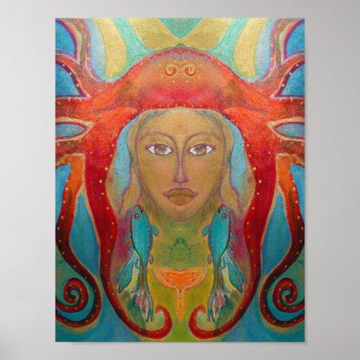 Art psychédélique - Psychedelic type d'affiche 60s