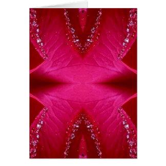 Art pur de pétale de rose - n rouge sang PinkRose Carte De Vœux