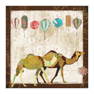Art rêveur de toile de voyage de chameaux impressions sur toile