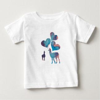 Art romantique de lama t-shirt pour bébé