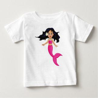 Art rose de fille de sirène t-shirt pour bébé