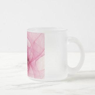 Art rose de fractale mug à café